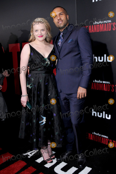 Photo - 25 April 2017 - Hollywood California - Elizabeth Moss O-T Fagbenle Los Angeles premiere of Hulus The Handmaids Tale held at ArcLight Hollywood in Hollywood Photo Credit Birdie ThompsonAdMedia