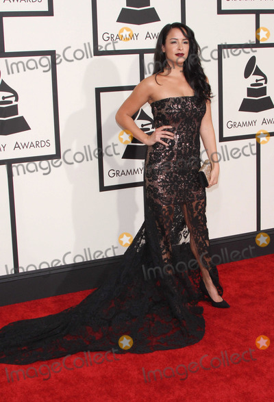 Courtney Reed,Grammy Awards Photo - 57th Annual GRAMMY Awards - Arrivals