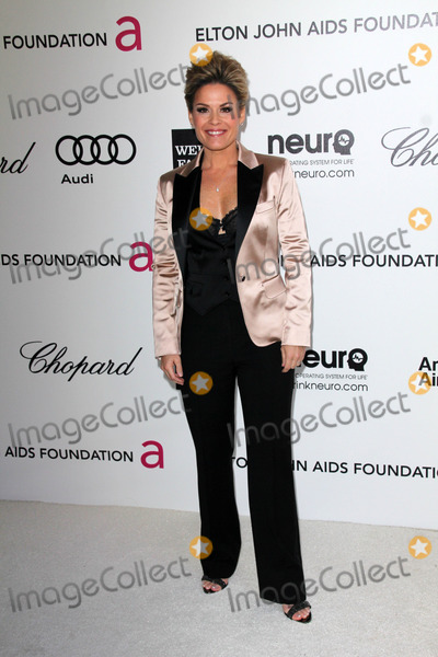 Elton John,Cat Cora Photo - 20th Annual Elton John AIDS Foundation Academy Awards Party