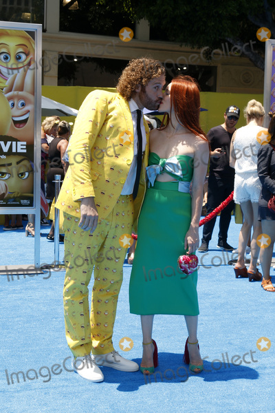 Photo - LOS ANGELES - JUL 23  TJ Miller Kate Gorney at The Emoji Movie Premiere at the Village Theater on July 23 2017 in Westwood CA