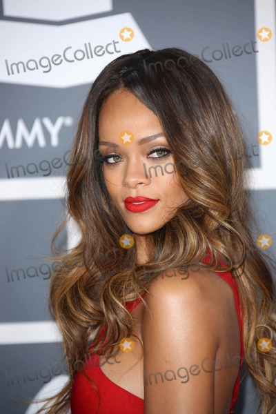 Rihanna Photos - Rihanna   at the 55th Grammy Awards-Arrivals  held at the Los Angeles Convention Center