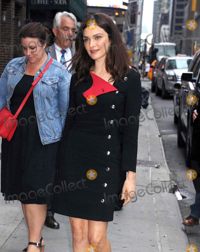 Photos From Rachel Weisz arrives at The Stephen Colbert Show