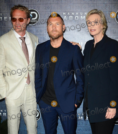 Photo - Photo by Patricia SchleinstarmaxinccomSTAR MAXCopyright 2017ALL RIGHTS RESERVEDTelephoneFax (212) 995-119671917Paul Bettany Sam Worthington and Jane Lynch at the premiere of Discoverys Manhunt Unabomber in New York City(NYC)