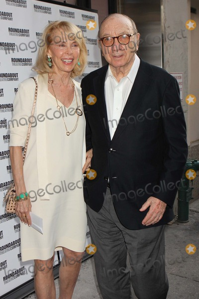 Elaine Joyce Photo - Elaine Joyce and Neil Simon Arriving at the Opening Night Performance of the Roundabout Theatre Companys Production of Harvey at Studio 54 in New York City on 06-14-2012 Photo by Henry Mcgee-Globe Photos Inc 2012