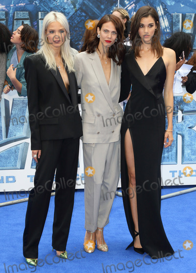 Photo - London UK Sasha Luss Aymeline Valade and Pauline Hoarau at Valerian And The City Of A Thousand Planets - European film premiere - at the Cineworld Empire Leicester Square London on July 24th 2017Ref LMK73-J558-250717Keith MayhewLandmark MediaWWWLMKMEDIACOM
