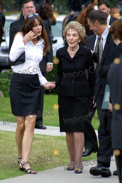 Nancy Reagan,THE GATES,Former President Ronald Reagan,Patti Davis,President Ronald Reagan,Ronald Prescott Reagan,Ronald Reagan Photo - Ronald Reagan Funeral