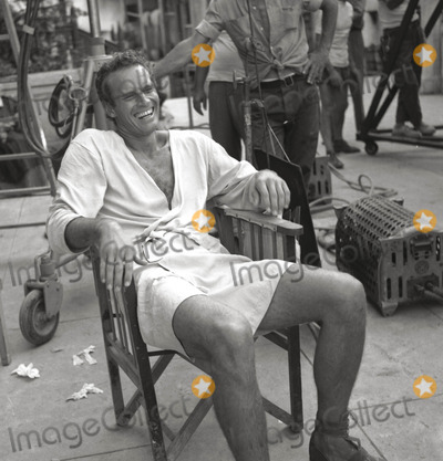 Charlton Heston,THE SET Photos - Charlton Heston 12907 on the Set of Ben Hur Photo Globe Photosinc