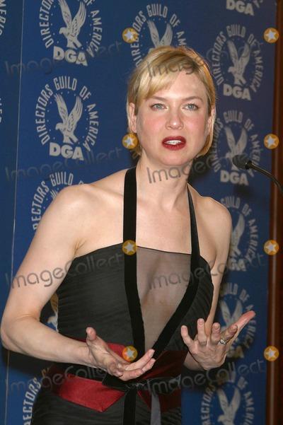 Renee Zellweger Photo - 55th Annual Directors Guild Awards Press Room Century Plaza Hotel Century City CA 02282003 Photo by Milan Ryba Globe Photos Inc 2003 Renee Zellweger