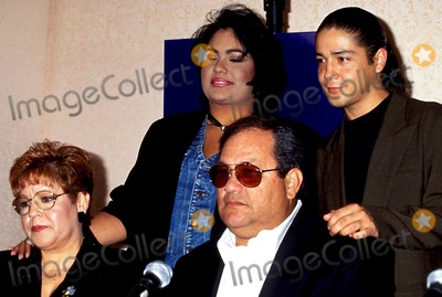 Abraham Quintanilla Photo - Selena Movie Press Conference Selenas Parents Marcella Suzette and Abraham Quintanilla with (selenas Husband Chris Perez) Photo Bylisa RoseGlobe Photos Inc