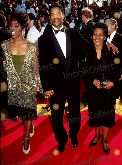 Photo of Denzel Washington & his  Mother  Lennis Lynne Washington
