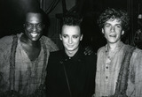 Boy George Photo - Boy George with Ron Richardson and Daniel Jenkins attending a Broadway performance of Big River on June 10 1985 at Eugene ONeill Theatre in New York City Credit McBrideface to face