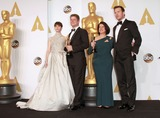 Anna Pinnock Photo - 22 February 2015 - Hollywood California -L-R) Actress Felicity Jones Adam Stockhausen Anna Pinnock winners of the Best Production Design Award for The Grand Budapest Hotel and presenter Chris Pratt pose in the press room during the 87th Annual Academy Awards presented by the Academy of Motion Picture Arts and Sciences held at the Dolby Theatre Photo Credit Theresa BoucheAdMedia