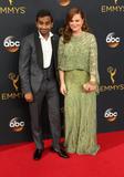 Amy Poehler Photo - 18 September 2016 - Los Angeles California - Aziz Ansari Amy Poehler 68th Annual Primetime Emmy Awards held at Microsoft Theater Photo Credit AdMedia