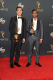 Aziz Ansari Photo - Alan Yang Aziz Ansariat the 68th Annual Primetime Emmy Awards Press Room Microsoft Theater Los Angeles CA 09-18-16