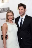 Emily Blunt Photo - Emily Blunt and John Krasinskiat the 18th Annual Critics Choice Movie Awards Arrivals Barker Hangar Santa Monica CA 01-10-13