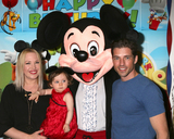Adrienne Frantz Photo - LOS ANGELES - DEC 4  Adrienne Frantz Bailey Amelie Bailey Mickey Mouse Character Scott Bailey at the Amelie Baileys 1st Birthday Party at Private Residence on December 4 2016 in Studio CIty CA