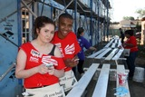 Emma Kenney Photo - LOS ANGELES - OCT 25  Emma Kenney Donis Leonard Jr at the Habitat for Humanity build by Showtimes House of Lies and Shameless at Magnolia Blvd on October 25 2014 in Lynwood CA