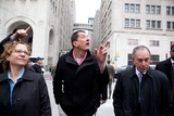Antony Gormley Photo - RESTRICTED NO NEW YORK OR NEW JERSEY NEWSPAPERS WITHIN A 75 MILE RADIUS OF NYCNew York NY 3232010Mayor Bloomberg and artist Antony Gormley walk to the inauguration of Gormleys new public art installation Event Horizon a collection of thirty-one casts of the artist himself placed in and around Madison Square Park Digital photo by Andy Lavin-PHOTOlinknet