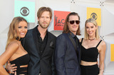 Brian Kelley Photo - Photo by REWestcomstarmaxinccomSTAR MAXCopyright 2016ALL RIGHTS RESERVEDTelephoneFax (212) 995-11964316Brittney Marie Cole Kelley Brian Kelley Tyler Hubbard and Hayley Stommel of Florida Georgia Line at the 51st Academy of Country Music (ACM) Awards at the MGM Grand Garden Arena(Las Vegas Nevada)