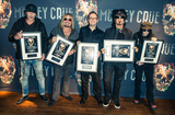Motley Crue Photo - Photo by KGC-243starmaxinccomSTAR MAXCopyright 2015ALL RIGHTS RESERVEDTelephoneFax (212) 995-119611615EXCLUSIVETommy Lee Vince Neil Nikki Sixx and Mick Mars of Motley Crue backstage at the SSE Arena Wembley accepting award plaques for their sold out show(London England UK)ExclusiveUS syndication only