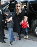 Angelina Jolie Photo - Non-Exclusive2013 Apr 5 - Angelina Jolie takes Knox Pitt-Jolie and Pax to FAO Schwarz in NYC Photo Credit Jackson Leestarmaxinccom