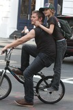 Mingus Reedus  Photo - NYC  050110EXCLUSIVE Norman Reedus with his son Mingus Reedus (his mother is Helena Christensen) standing on the back of his bicycle while riding around in SOHOEXCLUSIVE photo by Adam Nemser-PHOTOlinknet