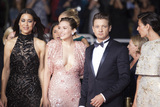 NICOLE SHERIDAN Photo - CANNES FRANCE - MAY 20 (L-R) Julia Jones Elizabeth Olsen Jeremy Renner Nicole Sheridan attend the The Square screening during the 70th annual Cannes Film Festival at Palais des Festivals on May 20 2017 in Cannes France(Photo by Laurent KoffelImageCollectcom)