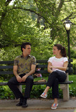 Kristin Davis Photo - Kristin Davis and Mario Cantone filming Sex and the City in Central Park New York May 20 2003