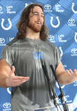 Anthony Castonzo Photo - Watford Herts Anthony Castonzo at the Indianapolis Colts Press Conference at The Grove Hotel Chandlers Cross Watford ndianapolis are here to play in the latest NFL International Series game at Wembley Stadium vs Jacksonville Jaguars on Sunday October 2nd 2016 30th September 2016 Ref LMK73-61529-011016Keith MayhewLandmark Media WWWLMKMEDIACOM