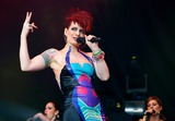 Ana Matronic Photo - London UK Scissor Sisters ( Ana Matronic and Jake Shears )  performing live during the third day of Lovebox Festival at Victoria Park in London 17th July  2011 Justyna SankoLandmark Media
