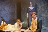 Amanda Redman Photo - London UK  L-R Joanna Christie as Claire Clairemont   Joe Bannister as Percy Bysshe Shelley with Emily Glenister as Harriet Westbrook (back) (niece of Philip Glenister and the daughter of actress Amanda Redman)   in the photocall for the play Bloody Poetry by Howard Brenton The play is set in the early 19th century and focuses on the relationship between the poets Percy Bysshe Shelley  Lord Byron Mary Shelley and Claire Clairemont  Jermyn Street Theatre London The play is on for a four week run at the theatre starting 1st February 2012   2nd February 2012  Taya UddinLandmark Media