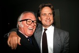 Richard Attenborough Photo - Photo Globe Photos Inc 1987 Michael Douglas and Richard Attenborough Michaeldouglasretro