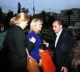 Athina Onassis Roussel Photo - Inside Athens 04-28-2004in the Photograph Athina Onassis Roussel in Visit to Athens with the Stepmother Gabi Roussel Photo by Lapresse-Globe Photos