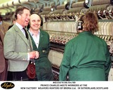Prince Photo - 060499 the Prince of Wales Shares a Joke with Two of the Workers During a Tour of the New Factory of Weavers Hunters of Brora Ltd in Sutherlandscotland AlphaGlobe Photos Inc