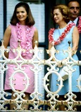 Jacqueline Kennedy Onassis Photo - Jacqueline Kennedy Onassis and Cecily Johnson Photo ByGlobe Photos Inc 1966 Jacquelinekennedyonassisretro