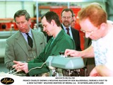 Prince Photo - 060999 the Prince of Wales Is Shown a Weaving Machine by Hunters Employee Ken Macdougall at the New Weaving Factory Hunters of Brora in Sutherlandscotland AlphaGlobe Photos Inc