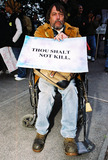 JFK Photo - Anti-war Demonstration Jfk Memorial Dallas Tx 02-15-03 Anti-war Protestor Mike Kennedy of Garland TX Photojeff Newman  Globe Photos Inc 2003