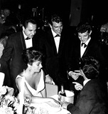 Frankie Avalon Photo - Bob Marcuca Fabian Frankie Avalon Elizabeth Taylor and Eddie Fisher at the Academy Awards Globe Photos Inc