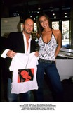 David Jones Photo - Dave Morgan_alpha M045117 23082001 Megan Gale and Aussie Designer Peter Morrissey Who Designed a Limited Edition (100 Only) T Shirt at the David Jones Store in Sydney Australia Credit Dave MorganalphaGlobe Photos Inc