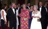 Queen Beatrix Photo - Alpha 048228 17062002 King Karl Gustav  Queen Silvia of Sweden Queen Beatrix of the Netherlands  the Queen -Golden Jubilee Dinner Party For European Royals at Windsor Castle in Windsor Berkshire Credit AlphaGlobe Photos Inc