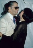 Paloma Picasso Photo - Karl Lagerfeld Paloma Picasso K27969rhart Photo by Rose Hartman-Globe Photos Inc