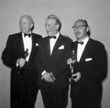 Maurice Chevalier Photo - Maurice Chevalier Sammy Cahn and Jimmy Van Heusen Photo by Globe Photos