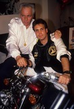 Evel Knievel Photo - Robbie Knievel with Father Evel Knievel 1989 A4342 Photo by Adam Scull-Globe Photos Inc