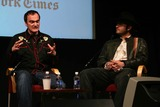 Lynn Hirschberg Photo - QUENTIN TARANTINO  AND ROBERT RODRIGUEZ  ARE INTERVIEWED BY NEW YORK TIMES EDITOR AT LARGE LYNN HIRSCHBERG AS PART OF THE TIMES TALKS SERIESTHE GRADUATE CENTER OF CUNY  03-30-2007PHOTOS BY RICK MACKLER RANGEFINDER-GLOBE PHOTOS INC2007QUENTIN TARANTINO ROBERT RODRIGUEZK52418RM