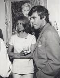 Burt Bacharach Photo - Angie Dickinson with Husband Burt Bacharach at the Dinner Party Honoring Authoress Jacqueline Susann at the Home of Henry Berger and Anita Louise 1969 Supplied by Globe Photos Inc