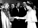 James Stewart Photo - Barbra Streisand James Caan James Stewart and Queen Elizabeth at the Royal Film Performance of Funny Lady 3171975 1970s Supplied by Globe Photos Inc