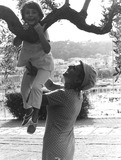 Mr Rogers Photo - Mrs Roger Moore with Son Photo by Araldo Di Crollalanza-Globe Photos Inc