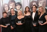 Abi Morgan Photo - Abi Morgan Dr Helen Pankhurst Alison Owen Carey Mulligan  Sarah Gavron and Faye Ward Attend the New York Premiere of Focus Features Suffragette the Paris Theater NYC October 12 2015 Photos by Sonia Moskowitz Globe Photos Inc