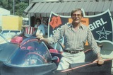 Chuck Barris Photo - Adam West with His Batmobile Car at Chuck Barris Party Supplied by Globe Photos Inc