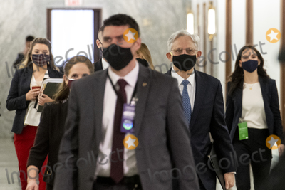 Photo - Merrick Garland arrives for a Senate Committee on the Judiciary hearing to examine his nomination to be Attorney General Department of Justice